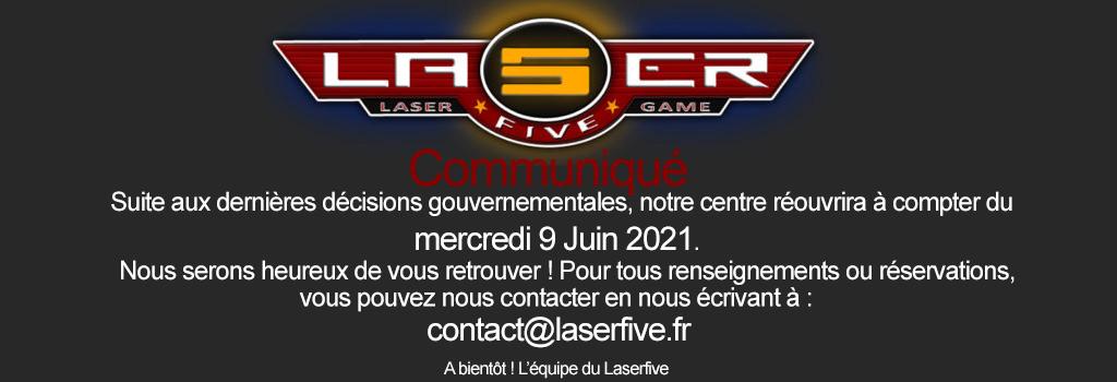 Réouverture du centre Laserfive Thionville le 09 Juin 2021